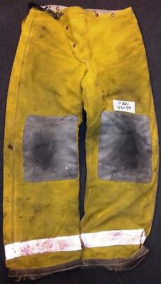 38x34 Firefighter Pants Bunker Fire Turn Out Gear Tan Brown Globe P760