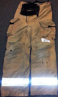 34x31 34L Firefighter Pants Bunker Fire Turn Out Gear Tan Brown Janesville P768