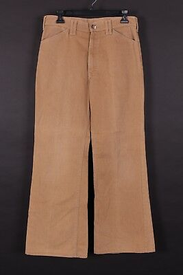 Vtg Lee Brushed Cotton Bellbottom Flare Pants Usa Mens Size 31X30
