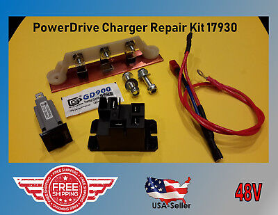 Club Car PowerDrive Battery Charger Repair Kit Golf Cart  48 V  #17930 & 17935