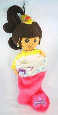 PRINCESS DORA the EXPLORER Plush Head Xmas Stocking