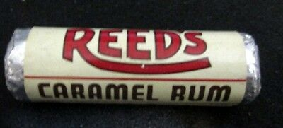 Vintage Old 1950's 1960's 7/8 in. Unopened Roll Candy REEDS Caramel Rum