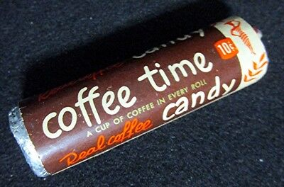 Old 1950's 1960's 7/8 in. Unopened Roll Candy COFFEE Time Candy RARE!!!!