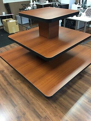 Cherry 3 Tier Square Display Table (Ohio Pick up Only)