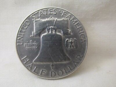 1951 US United States Silver Half Dollar Benjamin Franklin Liberty Bell