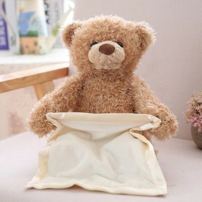 30CM Teddy Bear Peek a Boo Play Hide And Seek Soft Brown Christmas Gift