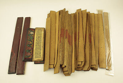 """SOUTHEAST ASIA """"Palm-Leaf Manuscript and Wooden Cover""""  @s626"""