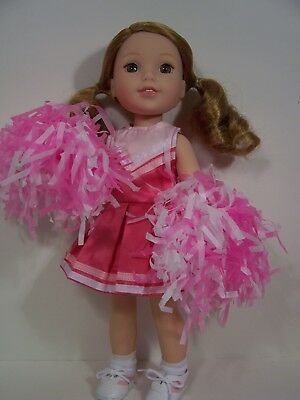 """DK PINK Floral Swimsuit Doll Clothes For 14/"""" American Girl Wellie Wishers Debs"""