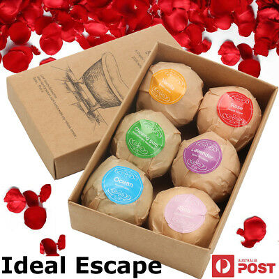 6Pcs Bath Bombs Gift Box Christmas Gift Set Bath Salts Lush Bath Bombs Fizzies
