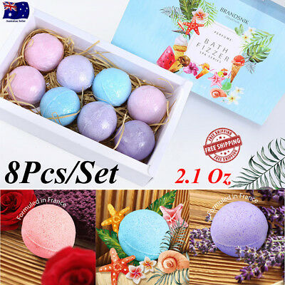 8Pcs Aromatherapy Bubble Bath Bombs GIFT PACK OF 8 Bath Fizzies Christmas Gift