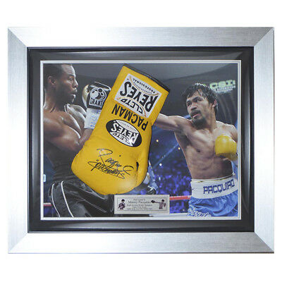 Manny Pacquiao Cleto Reyes Pro Boxhandschuh gerahmt - Pacman