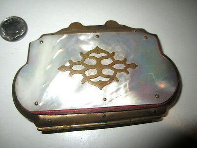 Antique Mother Of Pearl Expanding Change Purse Needs Repair