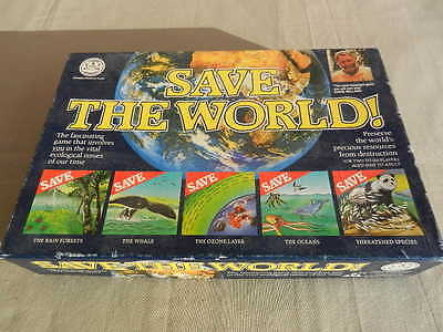 SAVE THE WORLD Vintage BOARD GAME Crown & Andrews 1989  - Rare