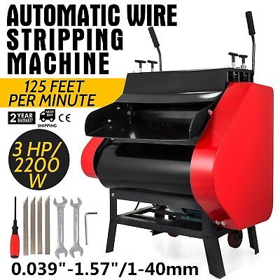 Automatic Wire Stripping Machine with Foot Pedal Copper Cable Stripper Metal