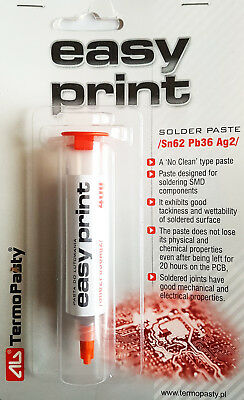 SMD Solder Paste Easy Print Sn62Pb36Ag2 40g NO CLEAN UK Seller