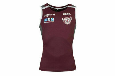 Manly Sea Eagles NRL 2018 Players Maroon Training Singlet Sizes S-5XL! In Stock!