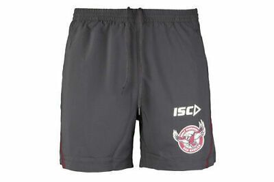 Manly Sea Eagles NRL 2018 Players ISC Training Shorts Sizes S-5XL! In Stock!