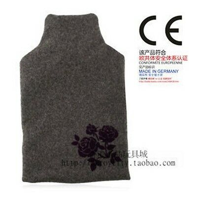 Grand Germany Fashy 2.0L Hot Water Bottle W/ Grey Fleece Flower Cover 6747