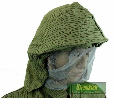 Ddr Nva East German Army Combat Hood With Face Veil Strichtarn Camo
