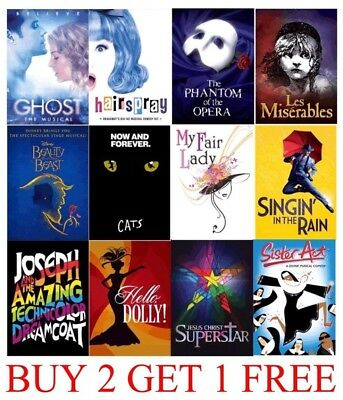 MUSICAL THEATRE POSTERS - A4 A3  HD Prints - MATT OR GLOSSY - Hairspray - Ghost
