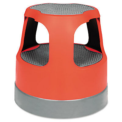 "Cramer Scooter Stool Round 15"" Step & Lock Wheels to 300lb Red 50011PK43"