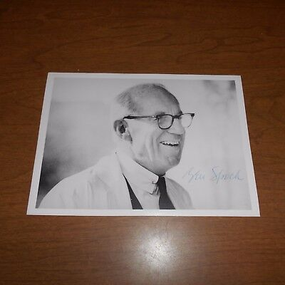 Dr. Benjamin Spock was an American pediatrician  Hand Signed Photo
