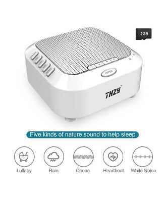 White Noise Machine,THZY Portable Sleep Sound Machine with 5 Noise Options and N