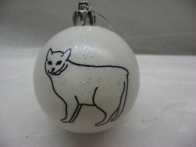 New Handpainted Manx Cat Unbreakable Christmas Ornament