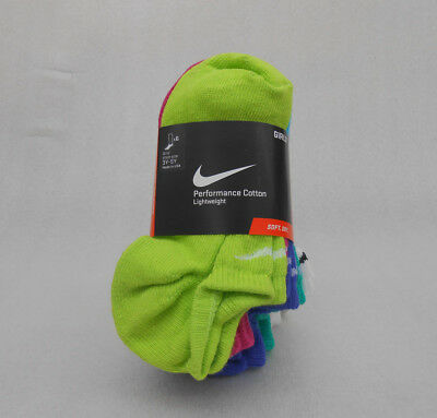 NIKE Girl's Socks No Show 6 Packs  SX4464-956 Size M/M  Fits Shoe Size 3Y-5Y