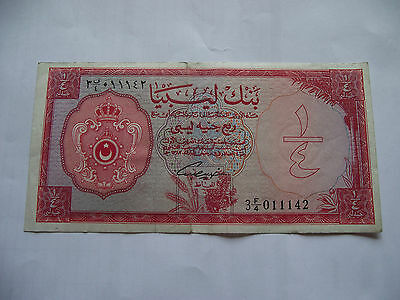 LIBYA. BANK OF LIBYA. 1st ISSUE 1/4 POUND L.1963/AH1382 NICE CONDITION!