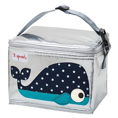 3 Sprouts Kids Children's School / Picnic Lunch Dinner Bag - Blue Whale