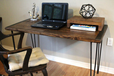 Desk Computer Reclaimed Wood Workstation Office Table Home Industrial Furniture