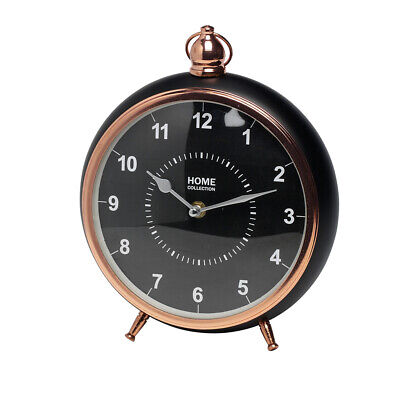 Home Collection Table Clock Antique Vintage Retro Metal Clock Clock Mantel Clock