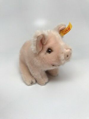 """vintage Stieff pink pig 3"""" x 4"""" made in Germany"""