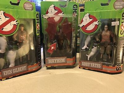 Lot Of 3 Ghostbusters Action Figures Abby Yates & Erin Gilbert 2016 Mattel
