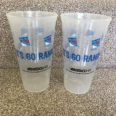 New York Rangers Ice Hockey 2 Plastic Drinks Cups Tumblers Collectible