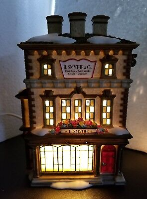 """""""H. Smythe, Publisher"""" Department 56, Dickens Village Series~ Retired! NEW"""