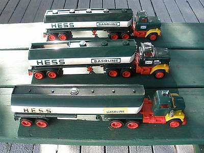 Hess Tanker Trucks (3) For Parts Or Repair(Late 1960's-1970's)