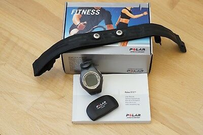 Polar f11 heart rate monitor. Watch, chest strap and transmitter. Boxed.