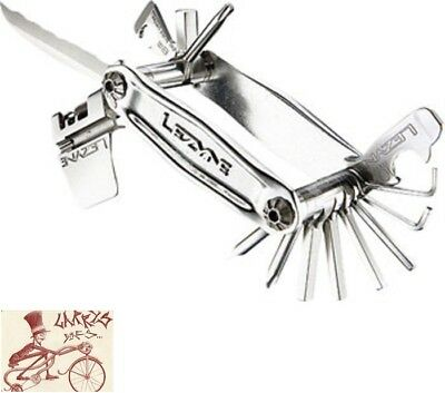 Lezyne Stainless Steel 20 Bit Cnc Machined Multi-Tool Bicycle Tool