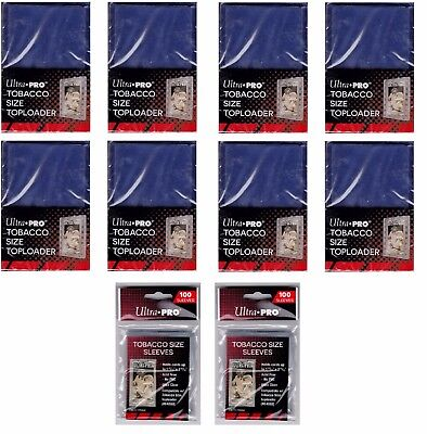 Ultra Pro Tobacco Top Loaders lot of 200 w/ 200 sleeves NEW Toploaders