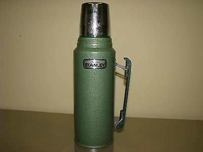 vtg Aladdin Stanley Thermos  Steel Quart A944 DH Pour-Thru Stopper hammered