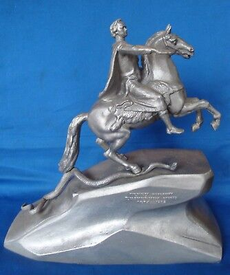 Tsar Peter 1 The Great metal Russian Figurine Statue