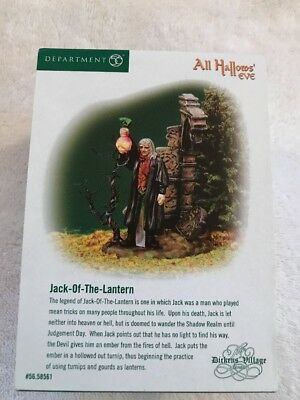 Dept.56 Dickens Village All Hallows Eve Jack Of The Lantern Mint In Box