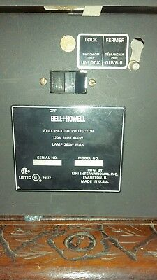 BELL & HOWELL Model 3860A ~Still Picture Projector~ Overhead Projector