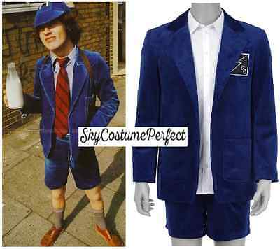 FREE WW SHIP AC/DC Angus Young School Boy Costume Cosplay celebritiy Rock Metal