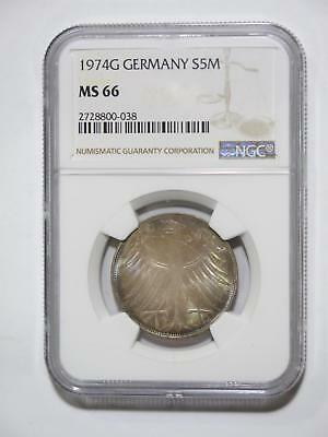 1974 G Germany Federal Republic 5 Mark Rainbow Toned Ngc 66 Coin Collection Lot