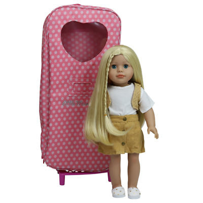"""4 18"""" Modern Doll Blonde Case Clothes American Girl Our Generation Journey Girl"""
