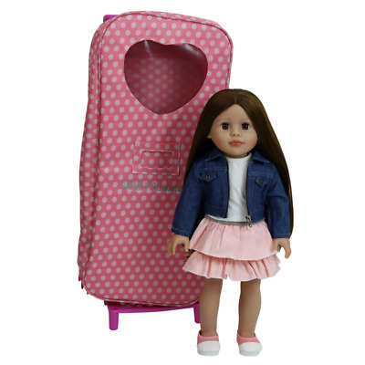 """5 18"""" Modern Doll Brown Case Clothes American Girl Our Generation Journey Girl"""