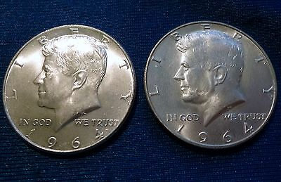 ~> Lot of 2  90% SILVER KENNEDY HALF DOLLARS ~ 1964 P & 1964 D  JFK